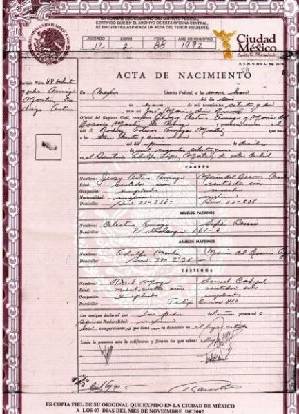 Matrimonio Registro Civil : Actas de matrimonio